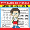 Atividades de Fixação - Subtrações até 10