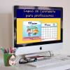 Capas de calendário para professores