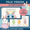 Feliz Páscoa - ALFABETIZAÇÃO - para Google Classroom