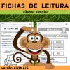 Fichas de leitura - ANIMAIS - Sílabas Simples