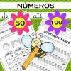 Números de 50 até 100