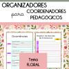 Organizadores para Coordenadores - Tema FLORAL