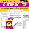 Atividades de OUTUBRO com Alfabeta e Numeraldo
