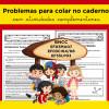 PROBLEMAS para COLAR NO CADERNO - com atividades complementares