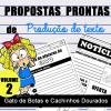 Propostas prontas para PRODUÇÃO DE TEXTO - Gato de Botas e Cachinhos Dourados