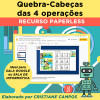 Quebra-Cabeça das QUATRO OPERAÇÕES - PAPERLESS