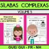 Sílabas Complexas - Volume 5