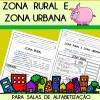 Zona Rural e Zona Urbana - ALFABETIZAÇÃO