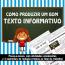 Como produzir um bom texto informativo