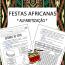 Festas Africanas - Alfabetização