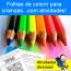 Folhas de colorir para crianças... com ATIVIDADES!